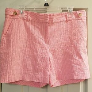 Women's Ann Taylor Red and White striped shorts
